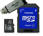 Toshiba Micro 32GB Secure Micro SD W/ SD Adapter Class 10 Memory & Free USB Card
