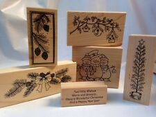 Great Impressions Christmas Bird House Tree Swag Snowmen Wishes Rubber Stamps