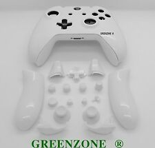 White Solid Xbox One Controller Full Replacement Shell Mod Kit + Buttons