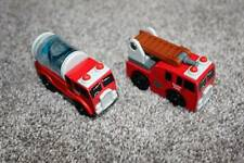 Thomas the Train & Friends Wooden Sodor Fire Truck Engine Set RARE 2003 Wood Toy