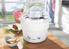 SILVERCREST WHITE/FUCHSIA  Ice Cream, Sorbet & Frozen Yoghurt Maker Brand New