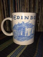 Edinburgh Castle UK Ceramic White Blue ALBA COLLECTION coffee mug tea cup