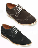 MENS REAL SUEDE LEATHER DESERT BROGUES  LACE UP SMART SHOES