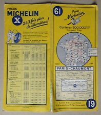 carte MICHELIN 61 PARIS - CHAUMONT 1958