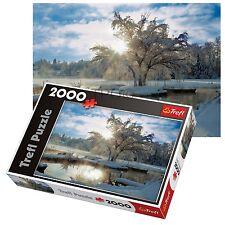 Trefl 2000 Piece Adult Large Dawn Lake Sunrise Snow Floor Jigsaw Puzzle NEW