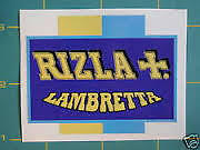 LAMBRETTA (Vespa) Scooter RIZLA Sticker GP,TV,LI,SX,GT 200 TS1