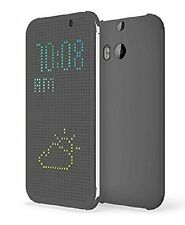 HTC HC M100 Dot View Folio Flip Interactive Cover Case for Android One M8 -Black