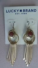 LUCKY BRAND Gold-Tone Horn Paddle Orange Bead Drop Earrings JLRY3509 NWT