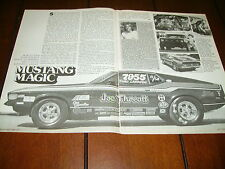 1972 FORD MUSTANG 351 RACE CAR ***ORIGINAL 1977 ARTICLE***