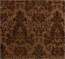 "Chocolate Brown Faux Silk Damask Jacquard 56""W FABRIC DRAPE UPHOLSTERY CRAFT"