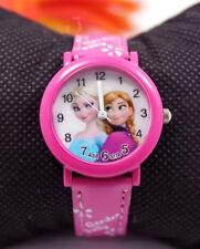 Disney Frozen Elsa & Anna Girls Kids Children Quartz Wrist Gift Watch Hot Pink