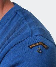 """Paul & Shark, 3xl, Torace Misura 52"""", Shark fit, scollo a V Blu Maglione, prezzo consigliato £ 219"""