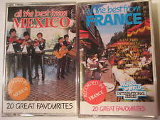 Lot of 2 Original Vintage All the Best From France and Mexico Cassettes