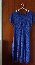 Blue Vintage Style Dress By Next Size 12