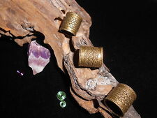 Dreadlock Beads Antique Bronze Chunky 10mm Hole Celtic Weave Tubes for XL Dreads