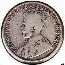 K42 CANADA 50c - 50 CENTS COIN 1912 GRADE = VERY GOOD - KING GEORGE V