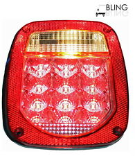 LED UNIVERSAL STUD-MOUNT TRUCK TRAILER TAIL LIGHT w/o license illuminator clear