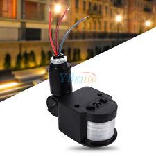 Noir 180° LED PIR Automatique Infrarouge Détecteur de Mouvement Extérieur Lampe