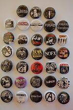 Punk Rock Button Pin Set Punk Music Lot of 33 (LB6)