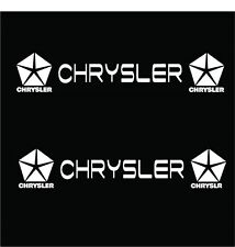 CHRYSLER STICKER VINYL DECAL VEHICLE CAR WALL LAPTOP