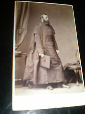 Cdv old photograph man academic robes by Slingsby at Lincoln c1860s