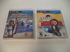 PS3 PlayStation 3 Move Games Lot: Sports Champions and Eyepet