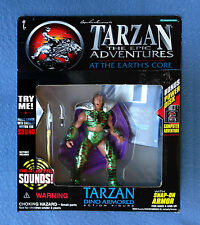 TARZAN DINO ARMORED WITH  SOUND AT THE EARTH'S CORE FIGURE TRENDMASTERS 1995