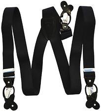 New in box Men's Vesuvio Napoli Suspenders Braces clip on formal party Black