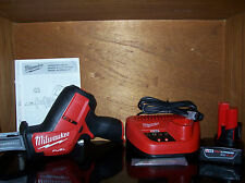 Milwaukee M12 Fuel Reciprocating Hackzall kit 4.0 lithium ion battery 2520-21XC
