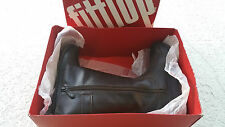 FitFlop - Leather Hooper Boot Tall Chocolate - New! retail $265
