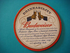Beer Coaster Mat ~*~ Beachwood Aged BUDWEISER Lager ~*~ Brewery Fresh Since 1876