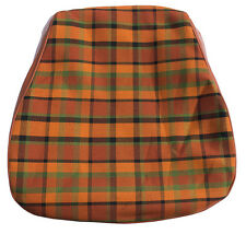 Westfalia Front Seat Bottom Cover VW T2 Late Bay Orange Plaid as Original C9251O