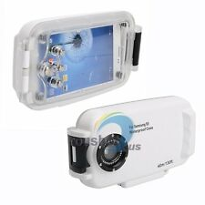 40M 130ft Meikon Waterproof Diving Phone Case Cover For Samsung GALAXY S5 White