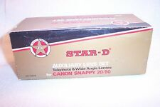 Star-D NEW Auxiliary Lens Set (Telephoto & Wide Angle) for Canon Snappy (LN-11)