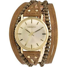 KHNP KLS0314L Kahuna Ladies Brown Beaded Multi Thong Watch