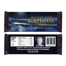 6 POLAR EXPRESS Birthday Party Personalized CANDY WRAPPERS