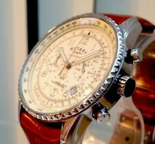 Stunning Rotary Mens Watch Tan Leather  Chronograph RRP£180 Limited Stock Genuin
