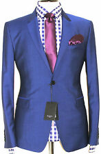 BNWT MENS PAUL SMITH THE BYARD LONDON PETROL BLUE TAILOR-MADE SUIT 36R W30
