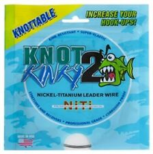 Knot 2 Kinky Nickel-Titanium Leader Wire 45lb(20.45kg) 15ft(4.6m) Single Strand