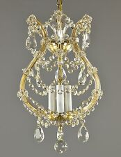 Marie Therese Italian Crystal Pendant Chandelier c1950 Vintage Antique French Ce