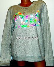 NWOT VICTORIA'S SECRET PINK TROPICAL PERFECT PULLOVER CREWNECK SWEATER M