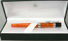 Monteverde Jewelria Orange & Chrome Fountain Pen - 1.1mm Stub Nib - New -50% Off