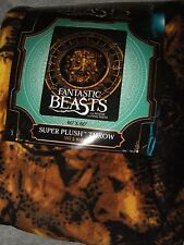 Harry Potter Fantastic Beasts and Where to Find Them Plush Fleece Throw Blanket