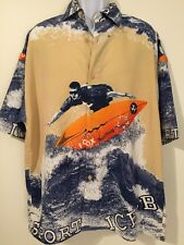 NEW XL Ice B Surfer Scene Shirt Button Front NWT Short Sleeve