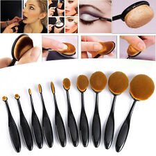 10PCS Profi Foundation Oval Pinsel Puderpinsel Kosmetik Brush Make Up Zahnbürste