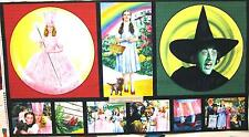 Licensed Wizard of Oz Fabric WICKED WITCH & GLENDA PILLOW PANEL  Movie 23x44