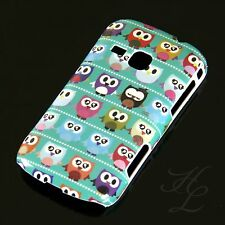 Samsung Galaxy Mini 2 S6500 Hard Case Handy Hülle Etui Comic Eule Owl