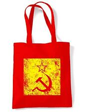 HAMMER & SICKLE TOTE / SHOULDER BAG - Soviet Russia Communist USSR KGB Political