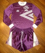 Vtg 80s UMBRO Purple White SOCCER Puyallup Seattle Jersey Shirt Shorts set SMALL
