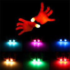 2x Magic Super Bright Light Up Thumbs Fingers Trick Appearing Light Close Up MW